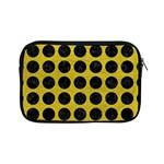 CIRCLES1 BLACK MARBLE & YELLOW LEATHER Apple iPad Mini Zipper Cases Front