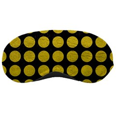 Circles1 Black Marble & Yellow Leather (r) Sleeping Masks