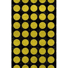 Circles1 Black Marble & Yellow Leather (r) 5 5  X 8 5  Notebooks