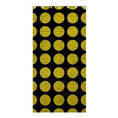 Circles1 Black Marble & Yellow Leather (r) Shower Curtain 36  X 72  (stall)