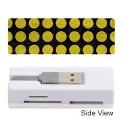 Circles1 Black Marble & Yellow Leather (r) Memory Card Reader (stick)