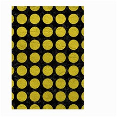 Circles1 Black Marble & Yellow Leather (r) Large Garden Flag (two Sides)