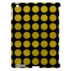 Circles1 Black Marble & Yellow Leather (r) Apple Ipad 3/4 Hardshell Case (compatible With Smart Cover)