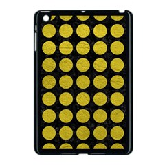 Circles1 Black Marble & Yellow Leather (r) Apple Ipad Mini Case (black)