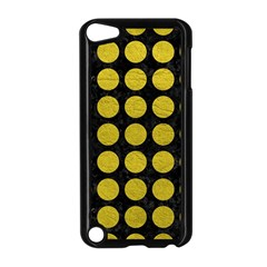 Circles1 Black Marble & Yellow Leather (r) Apple Ipod Touch 5 Case (black)