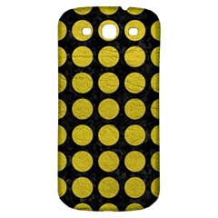 Circles1 Black Marble & Yellow Leather (r) Samsung Galaxy S3 S Iii Classic Hardshell Back Case