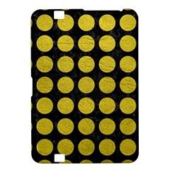 Circles1 Black Marble & Yellow Leather (r) Kindle Fire Hd 8 9