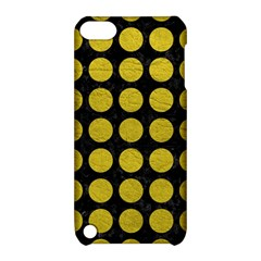Circles1 Black Marble & Yellow Leather (r) Apple Ipod Touch 5 Hardshell Case With Stand