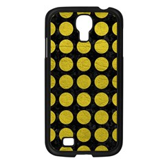 Circles1 Black Marble & Yellow Leather (r) Samsung Galaxy S4 I9500/ I9505 Case (black)
