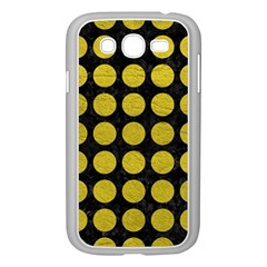 Circles1 Black Marble & Yellow Leather (r) Samsung Galaxy Grand Duos I9082 Case (white)