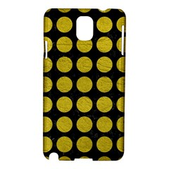 Circles1 Black Marble & Yellow Leather (r) Samsung Galaxy Note 3 N9005 Hardshell Case