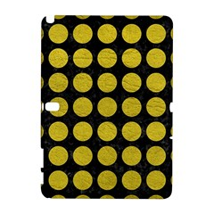 Circles1 Black Marble & Yellow Leather (r) Galaxy Note 1