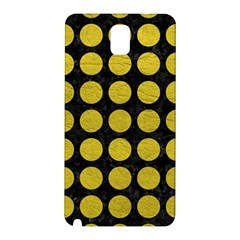 Circles1 Black Marble & Yellow Leather (r) Samsung Galaxy Note 3 N9005 Hardshell Back Case