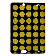 Circles1 Black Marble & Yellow Leather (r) Amazon Kindle Fire Hd (2013) Hardshell Case
