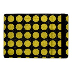 Circles1 Black Marble & Yellow Leather (r) Samsung Galaxy Tab Pro 10 1  Flip Case