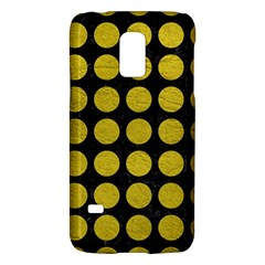 Circles1 Black Marble & Yellow Leather (r) Galaxy S5 Mini
