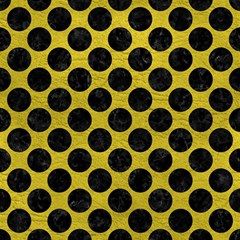 Circles2 Black Marble & Yellow Leather Magic Photo Cubes
