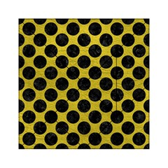 Circles2 Black Marble & Yellow Leather Acrylic Tangram Puzzle (6  X 6 )