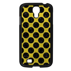 Circles2 Black Marble & Yellow Leather Samsung Galaxy S4 I9500/ I9505 Case (black)