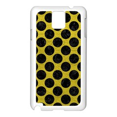 Circles2 Black Marble & Yellow Leather Samsung Galaxy Note 3 N9005 Case (white)