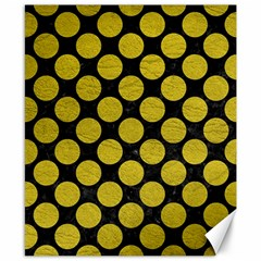 Circles2 Black Marble & Yellow Leather (r) Canvas 8  X 10