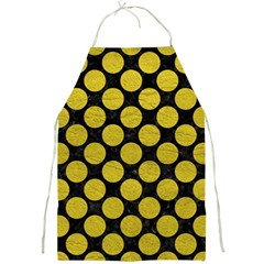 Circles2 Black Marble & Yellow Leather (r) Full Print Aprons