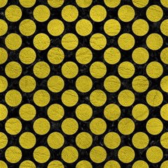 Circles2 Black Marble & Yellow Leather (r) Magic Photo Cubes