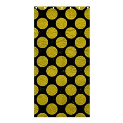 Circles2 Black Marble & Yellow Leather (r) Shower Curtain 36  X 72  (stall)