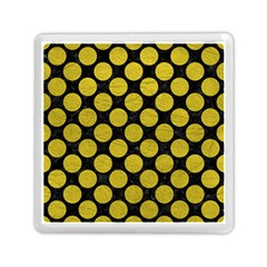 Circles2 Black Marble & Yellow Leather (r) Memory Card Reader (square)