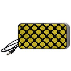 Circles2 Black Marble & Yellow Leather (r) Portable Speaker