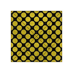 Circles2 Black Marble & Yellow Leather (r) Acrylic Tangram Puzzle (4  X 4 )