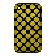 Circles2 Black Marble & Yellow Leather (r) Iphone 3s/3gs