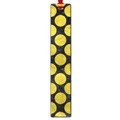 Circles2 Black Marble & Yellow Leather (r) Large Book Marks