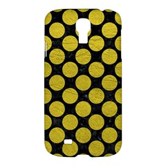 Circles2 Black Marble & Yellow Leather (r) Samsung Galaxy S4 I9500/i9505 Hardshell Case