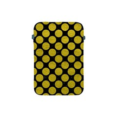 Circles2 Black Marble & Yellow Leather (r) Apple Ipad Mini Protective Soft Cases