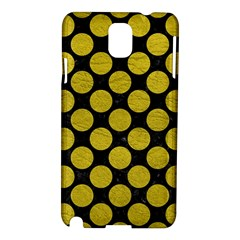 Circles2 Black Marble & Yellow Leather (r) Samsung Galaxy Note 3 N9005 Hardshell Case