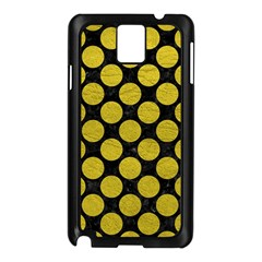 Circles2 Black Marble & Yellow Leather (r) Samsung Galaxy Note 3 N9005 Case (black)