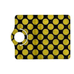 Circles2 Black Marble & Yellow Leather (r) Kindle Fire Hd (2013) Flip 360 Case