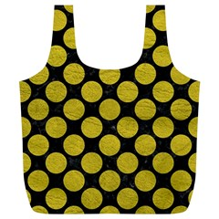 Circles2 Black Marble & Yellow Leather (r) Full Print Recycle Bags (l)