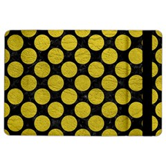 Circles2 Black Marble & Yellow Leather (r) Ipad Air 2 Flip