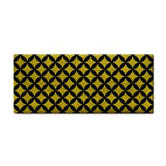 Circles3 Black Marble & Yellow Leather Cosmetic Storage Cases