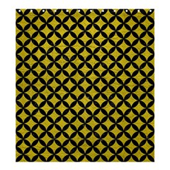 Circles3 Black Marble & Yellow Leather Shower Curtain 66  X 72  (large)