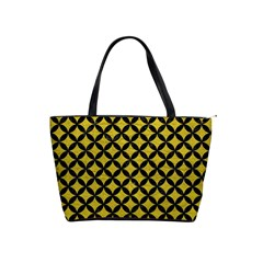 Circles3 Black Marble & Yellow Leather Shoulder Handbags