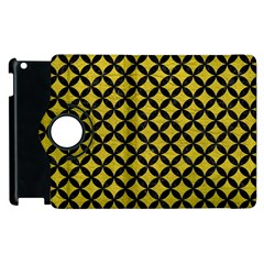 Circles3 Black Marble & Yellow Leather Apple Ipad 3/4 Flip 360 Case