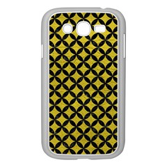 Circles3 Black Marble & Yellow Leather Samsung Galaxy Grand Duos I9082 Case (white)