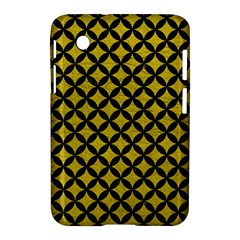Circles3 Black Marble & Yellow Leather Samsung Galaxy Tab 2 (7 ) P3100 Hardshell Case