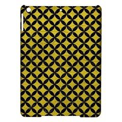 Circles3 Black Marble & Yellow Leather Ipad Air Hardshell Cases