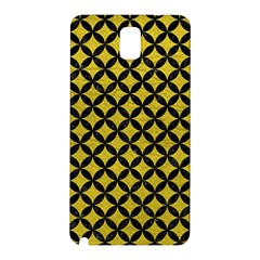 Circles3 Black Marble & Yellow Leather Samsung Galaxy Note 3 N9005 Hardshell Back Case