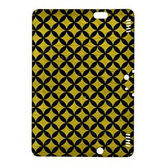 Circles3 Black Marble & Yellow Leather Kindle Fire Hdx 8 9  Hardshell Case