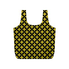 Circles3 Black Marble & Yellow Leather Full Print Recycle Bags (s)